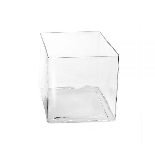 Τετράγωνη Γυάλα Διακόσμησης by Sandra Rich ύψους 20 εκ.