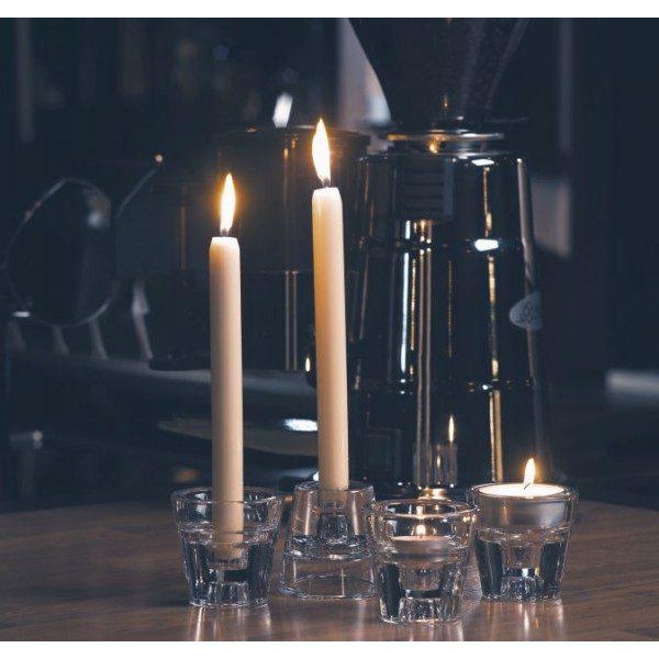 Διάφανο Γυάλινο Κηροπήγιο 4 σε 1 για Ρεσώ, Κεριά Κηροπηγίου & Κυλίνδρους