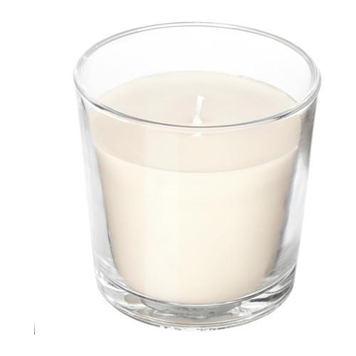 Κερί σε γυάλινο βάζο με διάρκεια καύσης 15 ώρες